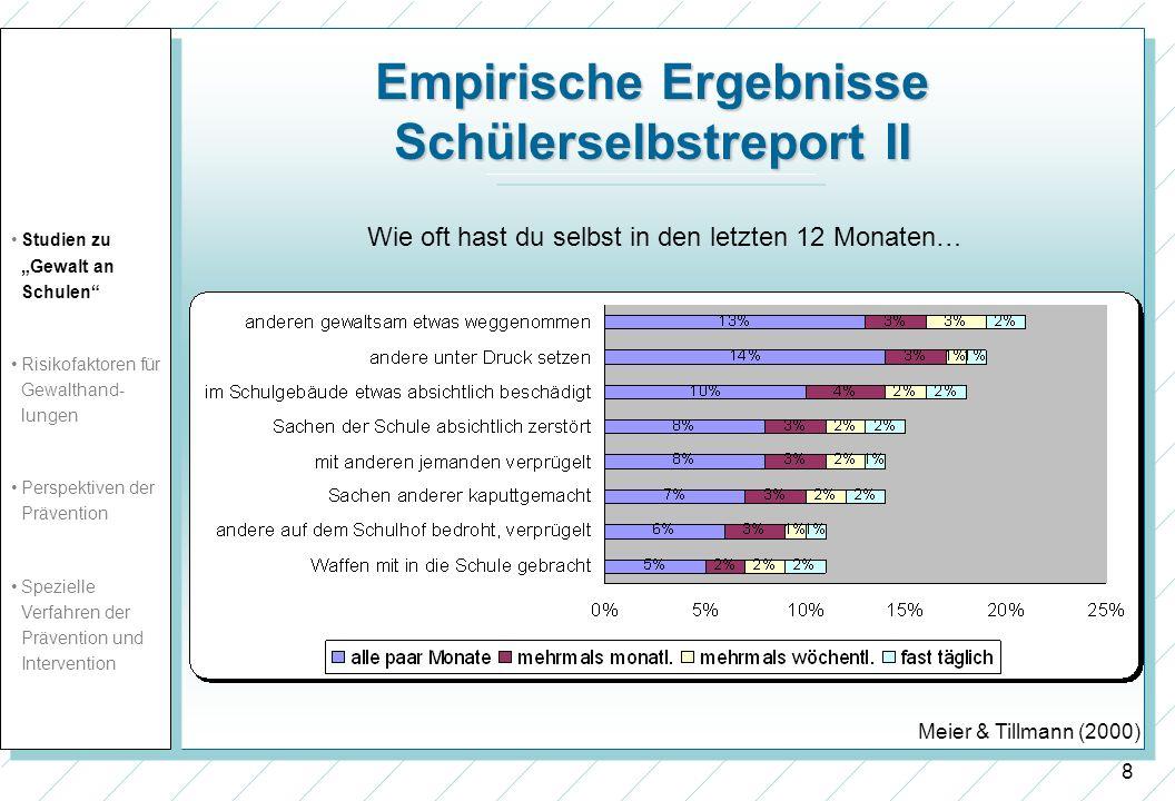 Empirische Ergebnisse Schülerselbstreport II
