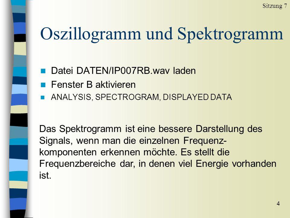 Oszillogramm und Spektrogramm