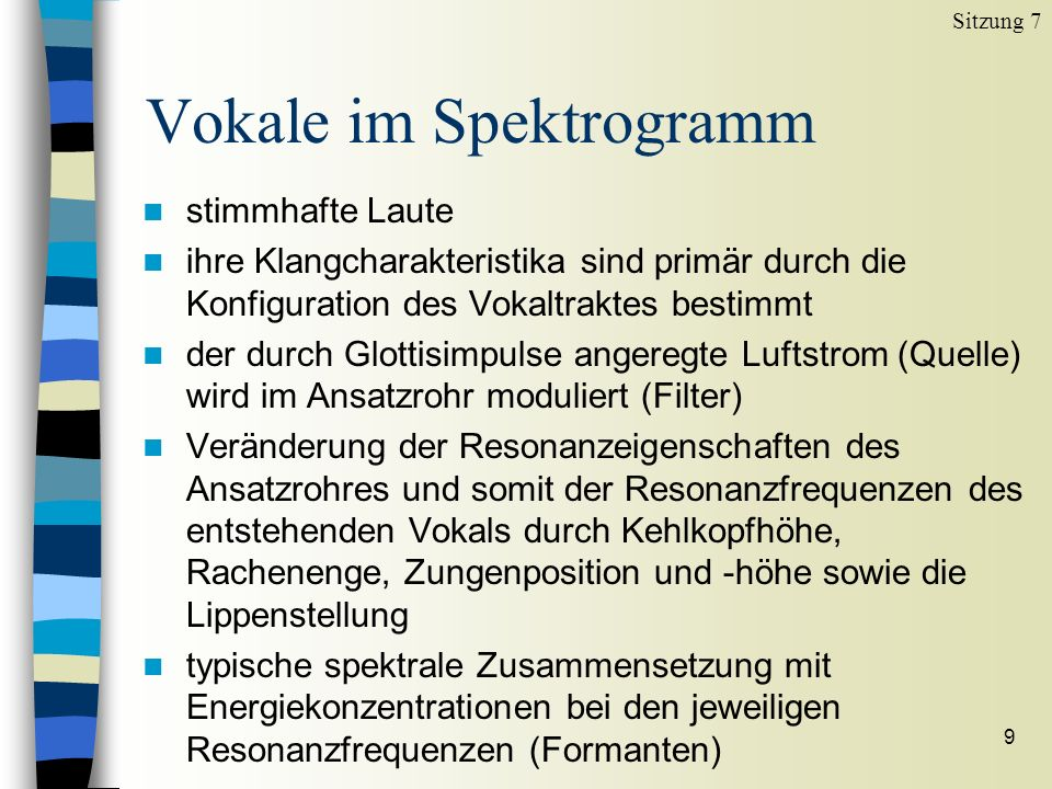 Vokale im Spektrogramm