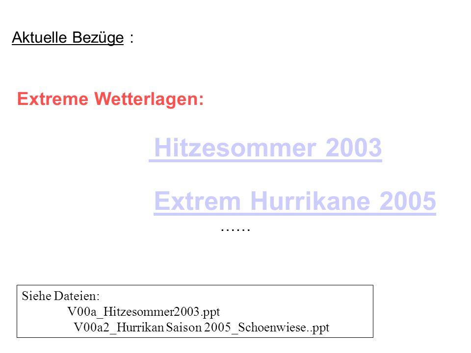 Extreme Wetterlagen: Hitzesommer 2003