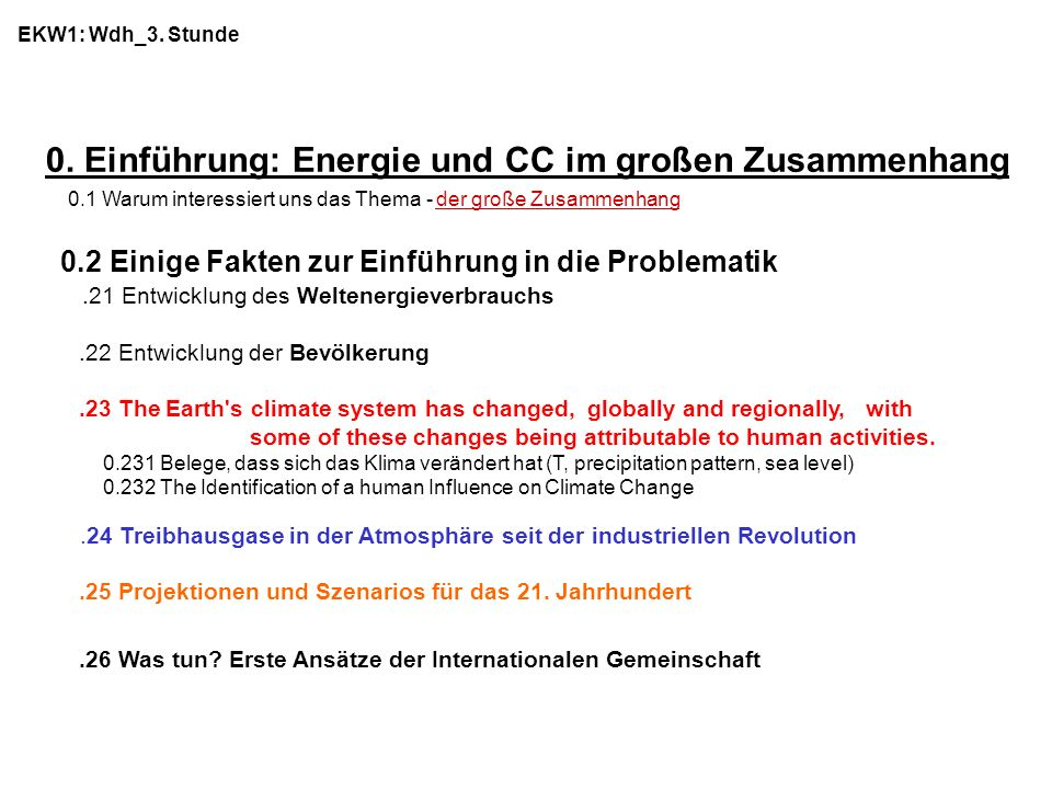 0. Einführung: Energie und CC im großen Zusammenhang