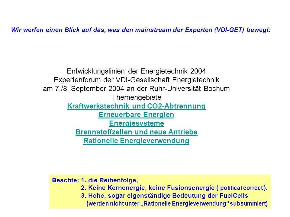 Entwicklungslinien der Energietechnik 2004