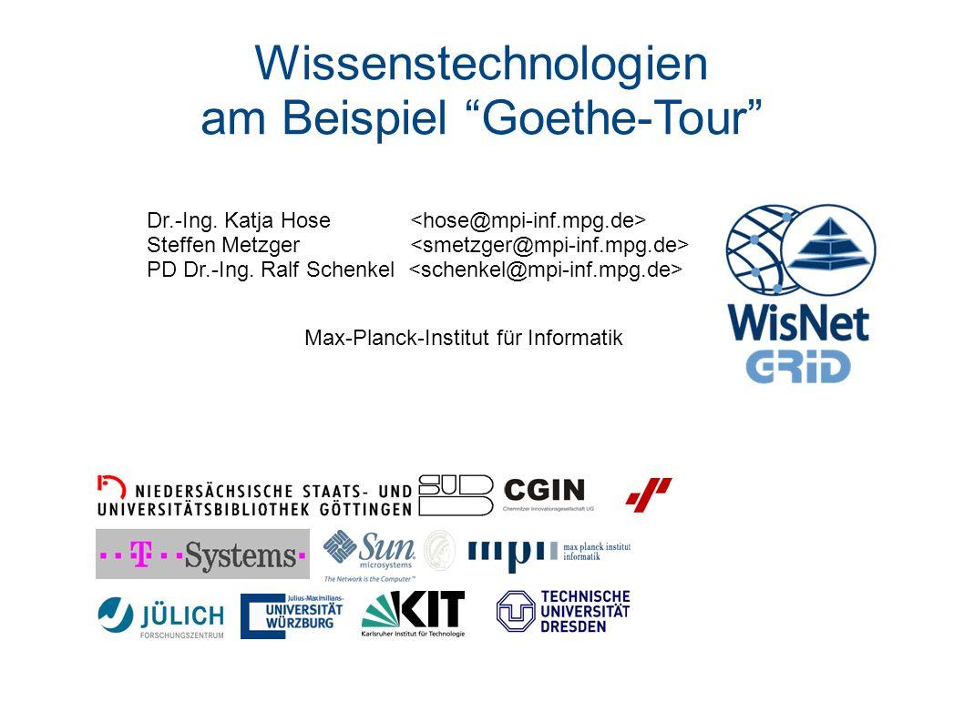 am Beispiel Goethe-Tour