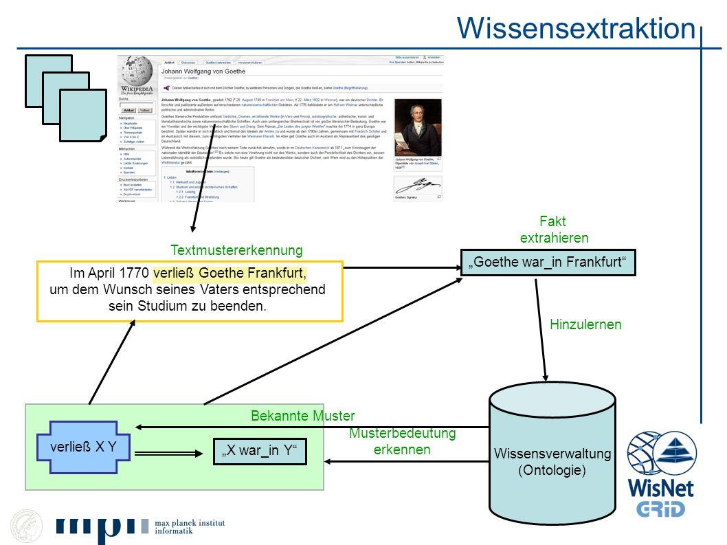 Wissensextraktion Fakt extrahieren Textmustererkennung