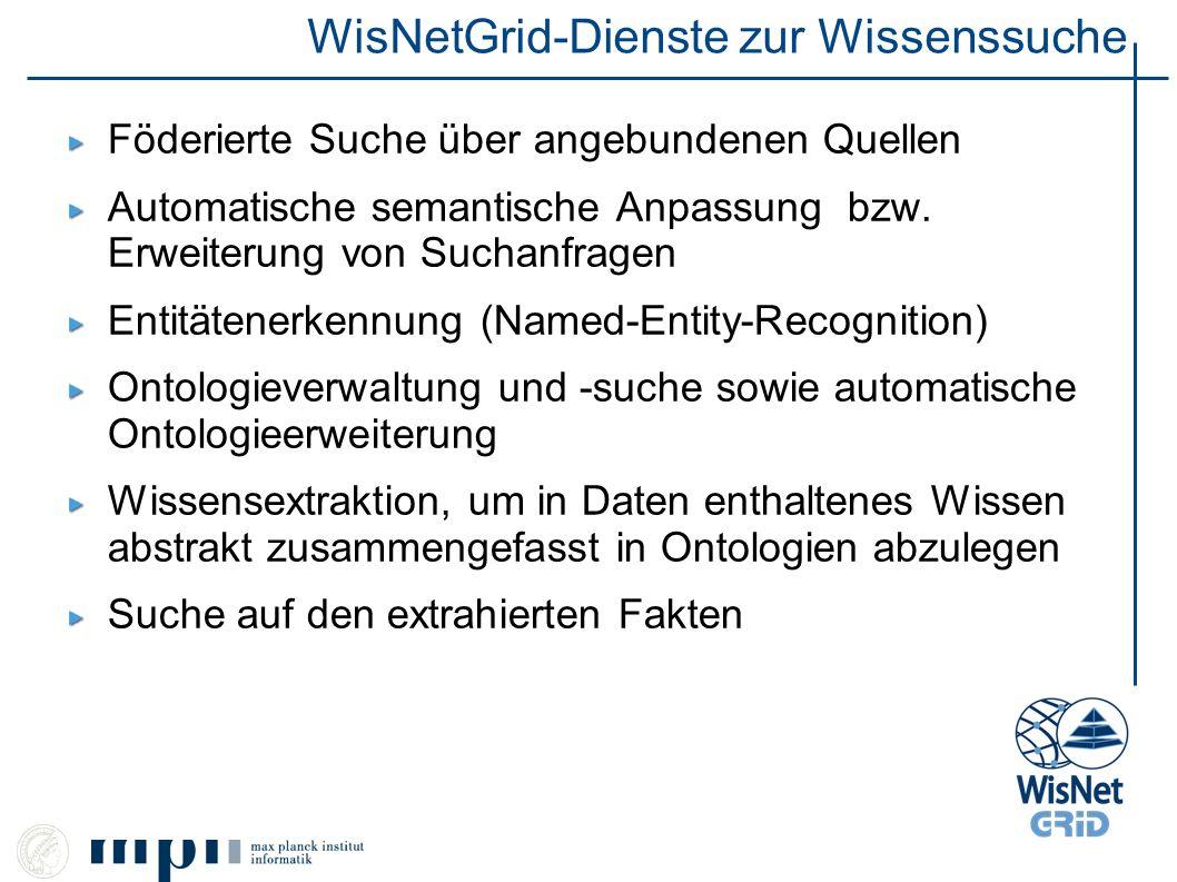 WisNetGrid-Dienste zur Wissenssuche