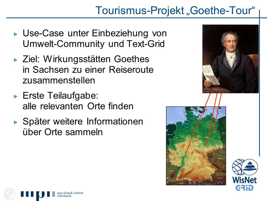 """Tourismus-Projekt """"Goethe-Tour"""