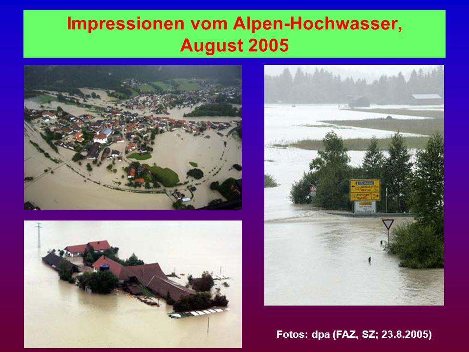 Impressionen vom Alpen-Hochwasser, August 2005