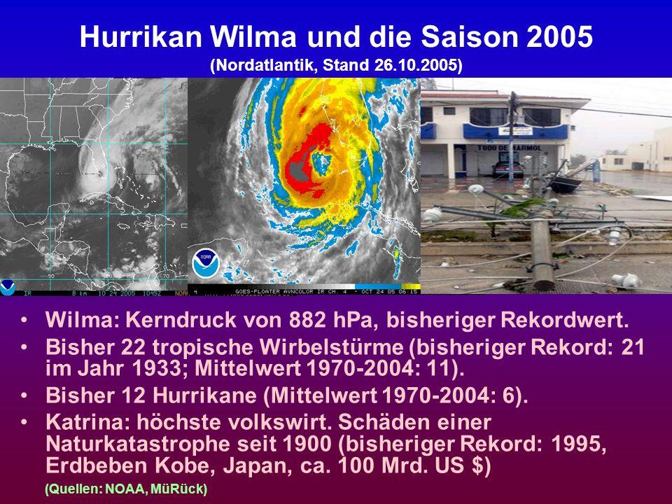 Hurrikan Wilma und die Saison 2005 (Nordatlantik, Stand 26.10.2005)