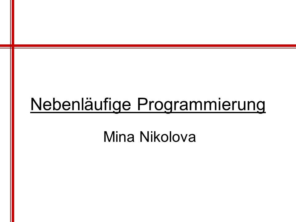 Nebenläufige Programmierung