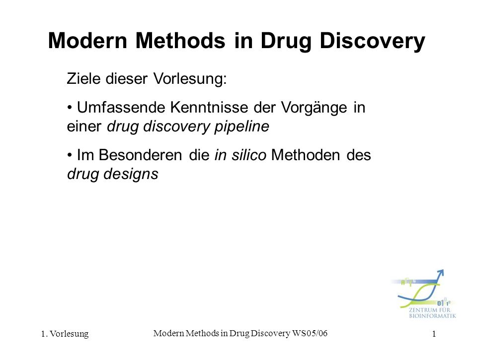 Modern Methods in Drug Discovery