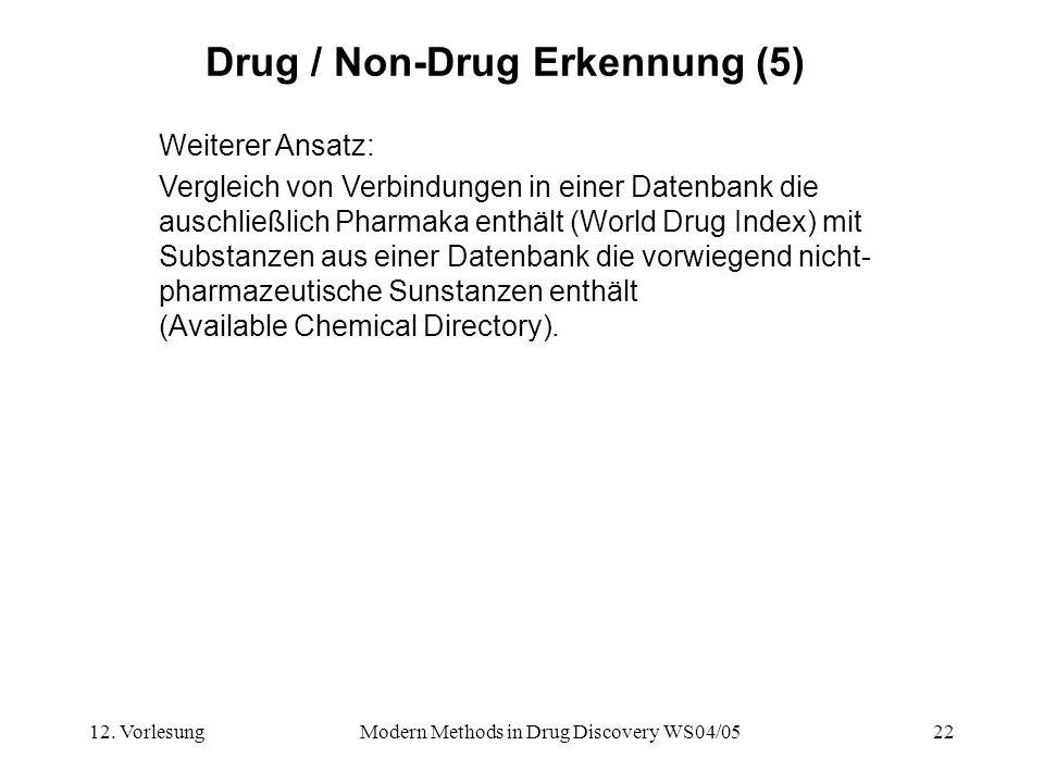 Drug / Non-Drug Erkennung (5)