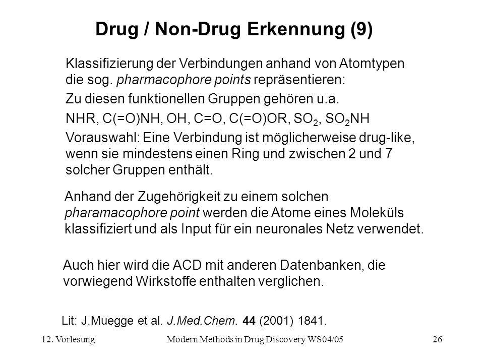Drug / Non-Drug Erkennung (9)