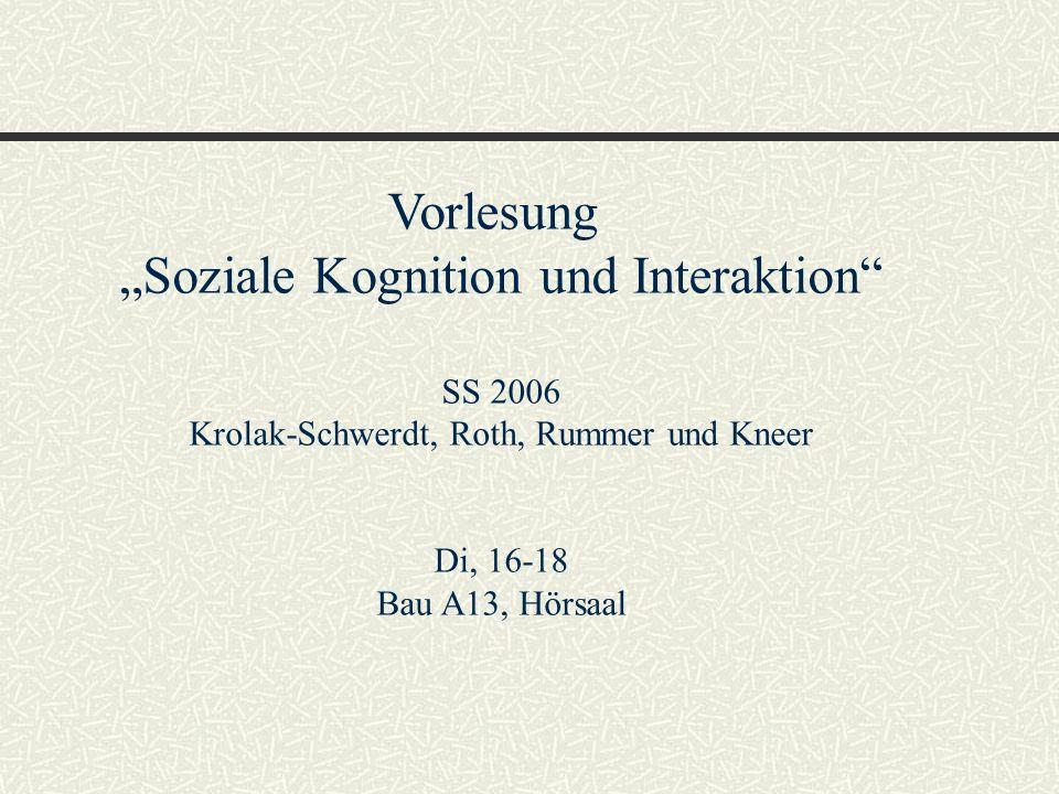 """""""Soziale Kognition und Interaktion"""