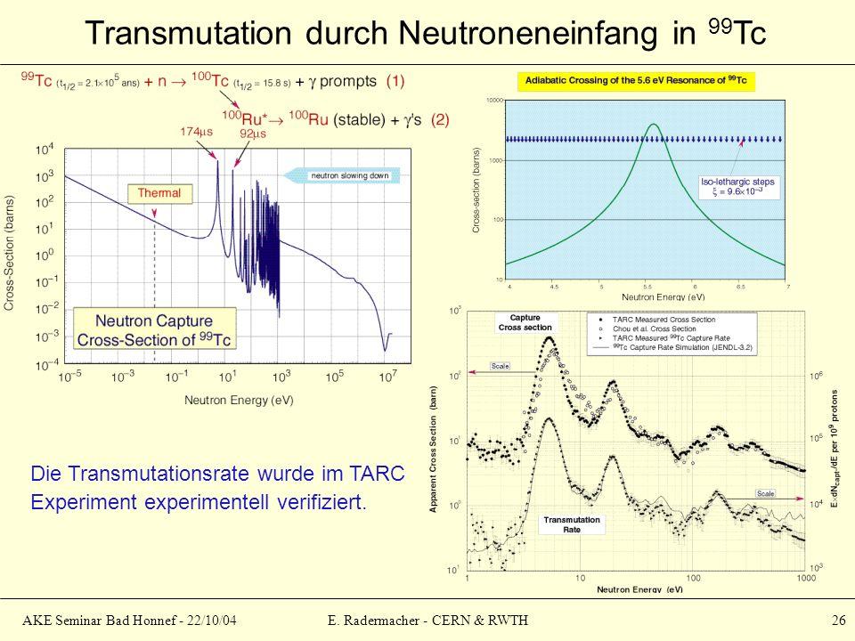 E. Radermacher - CERN & RWTH