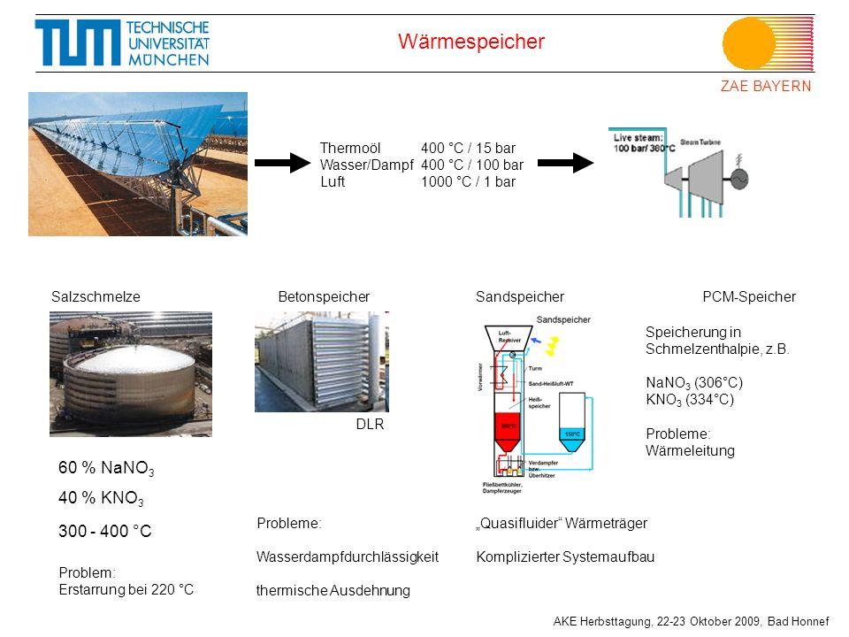 Wärmespeicher 60 % NaNO3 40 % KNO3 300 - 400 °C