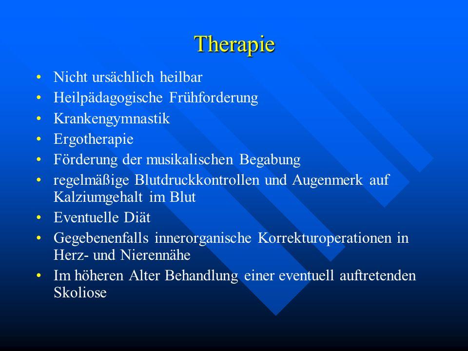 Therapie Nicht ursächlich heilbar Heilpädagogische Frühforderung