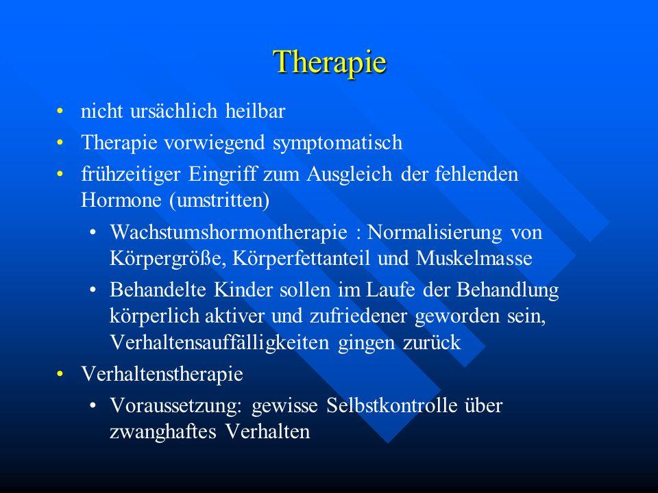 Therapie nicht ursächlich heilbar Therapie vorwiegend symptomatisch