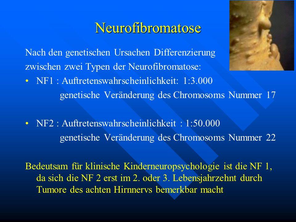 Neurofibromatose Nach den genetischen Ursachen Differenzierung