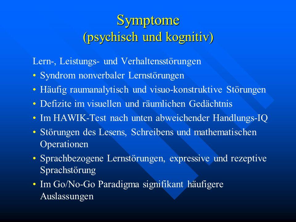 Symptome (psychisch und kognitiv)