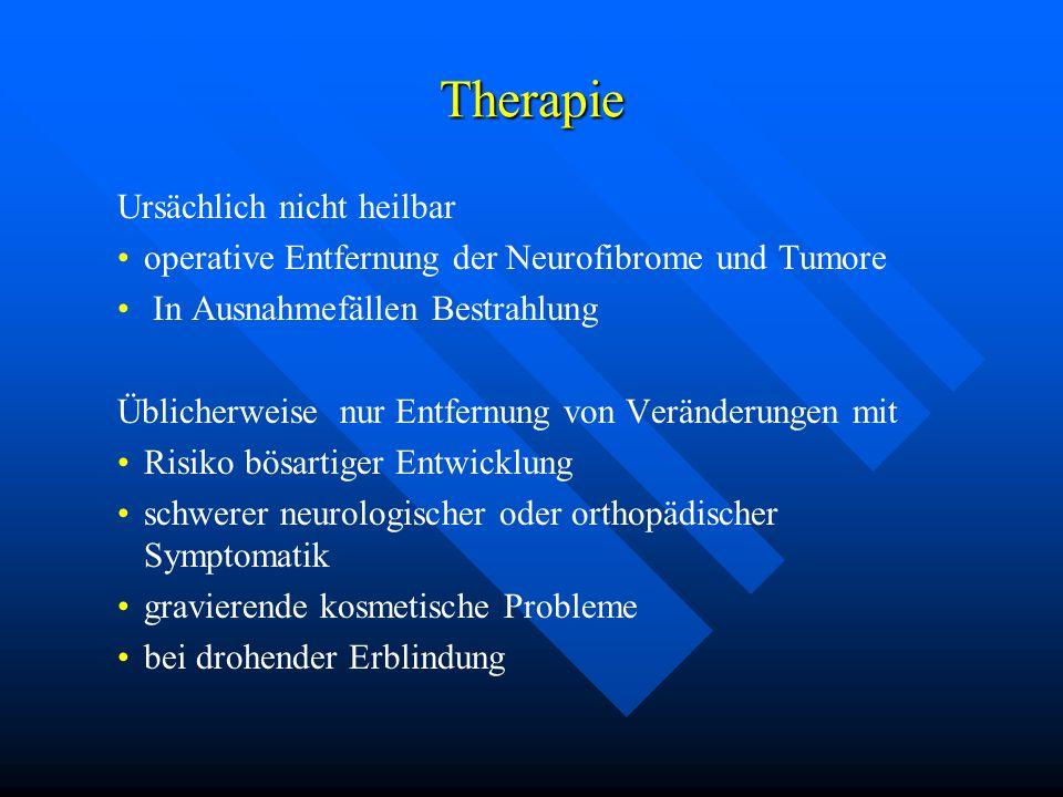 Therapie Ursächlich nicht heilbar
