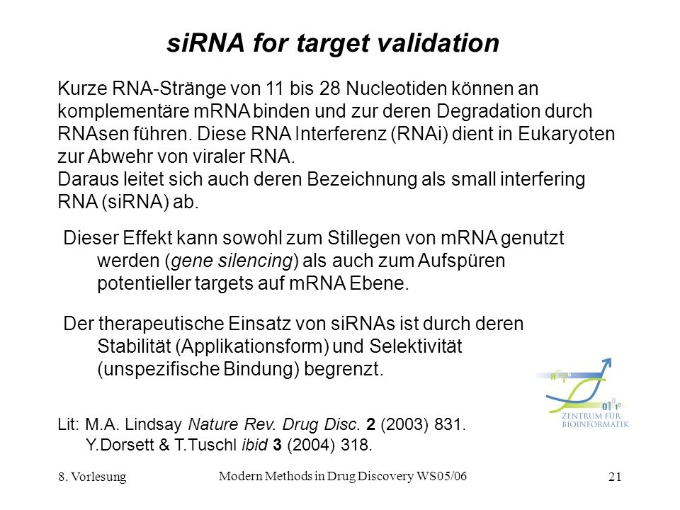siRNA for target validation