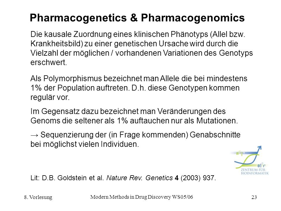 Pharmacogenetics & Pharmacogenomics