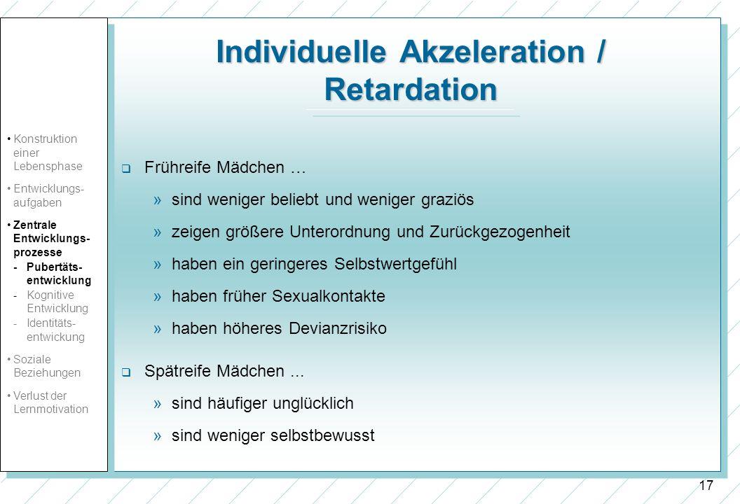 Individuelle Akzeleration / Retardation