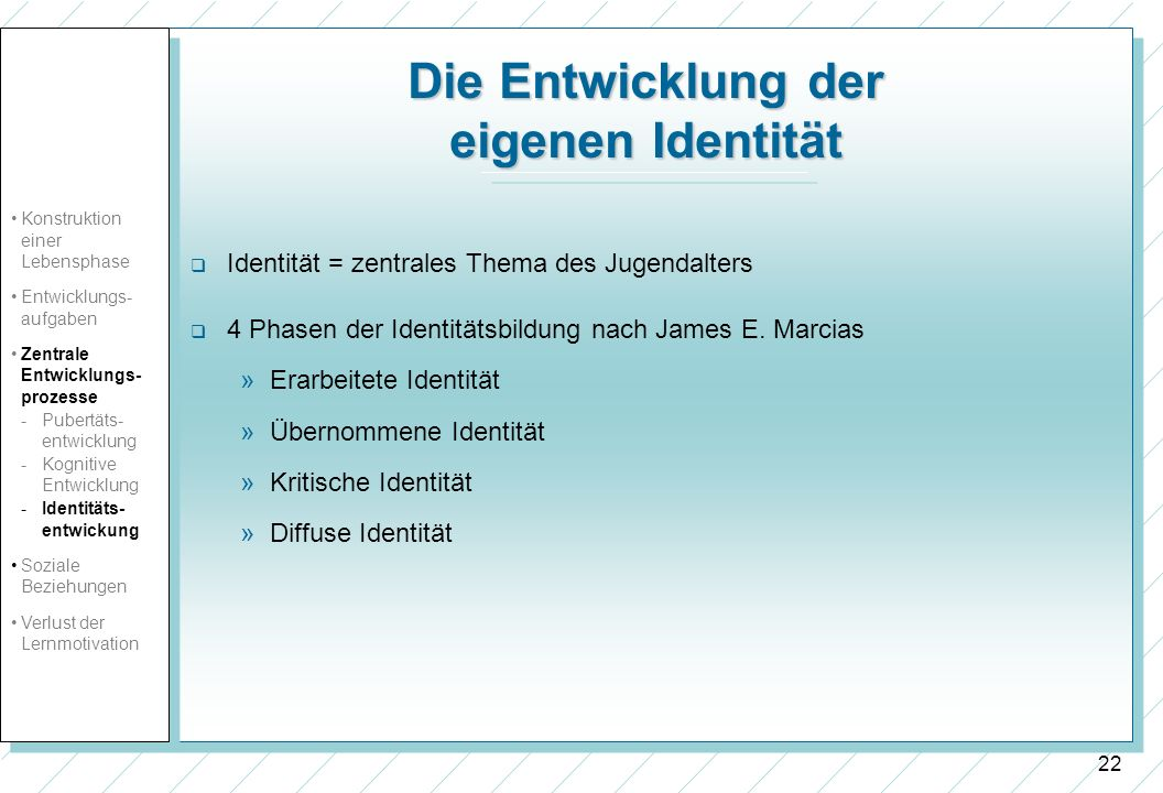 Die Entwicklung der eigenen Identität