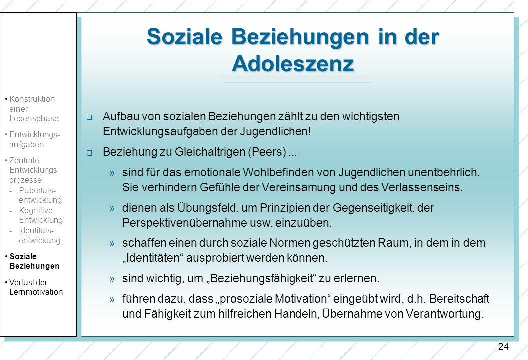 Soziale Beziehungen in der Adoleszenz