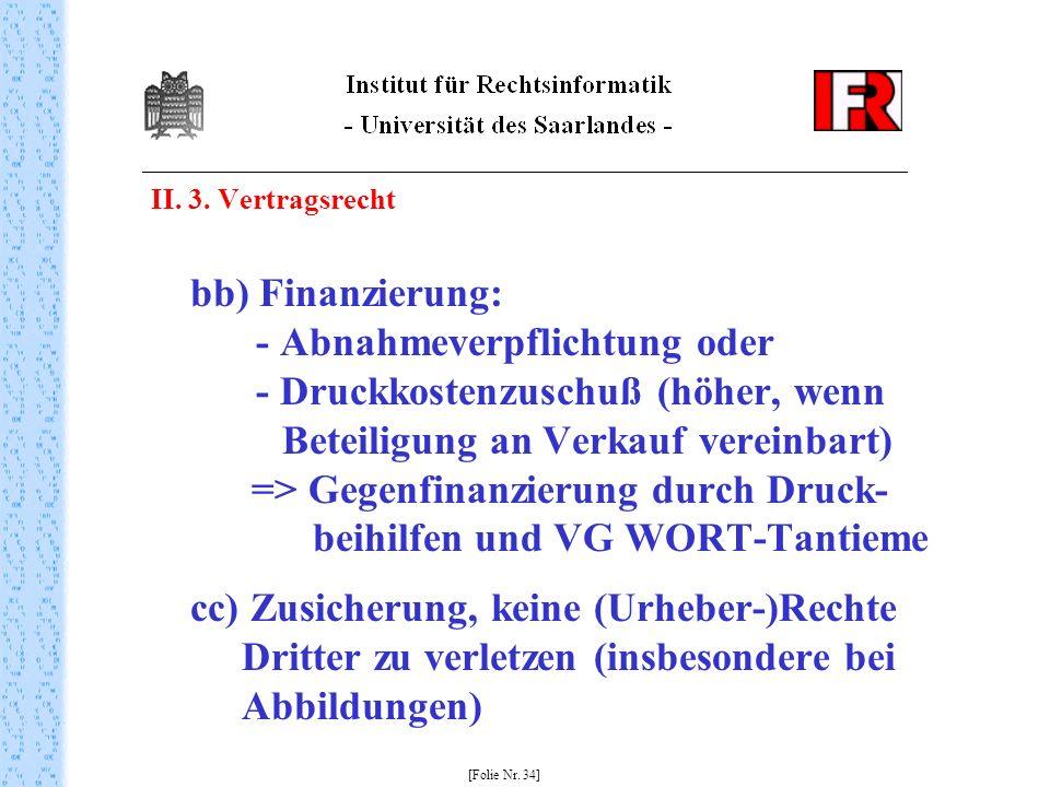 II. 3. Vertragsrecht