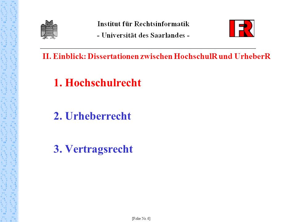 2. Urheberrecht 3. Vertragsrecht