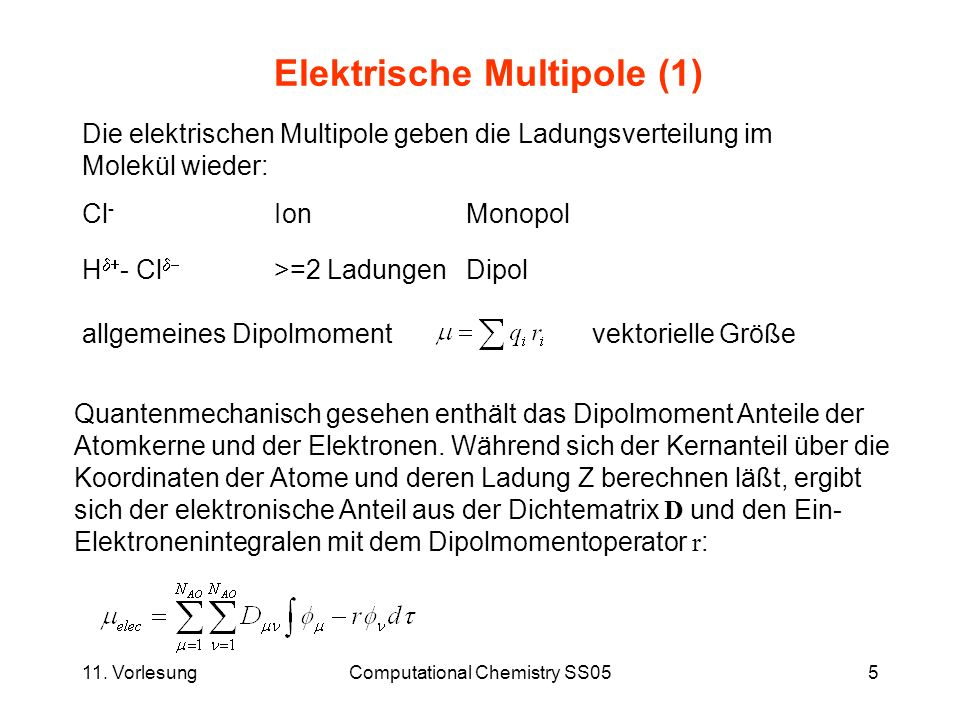 Elektrische Multipole (1)