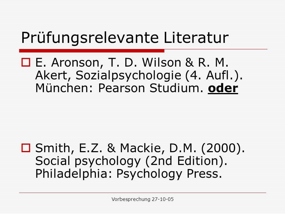 Prüfungsrelevante Literatur