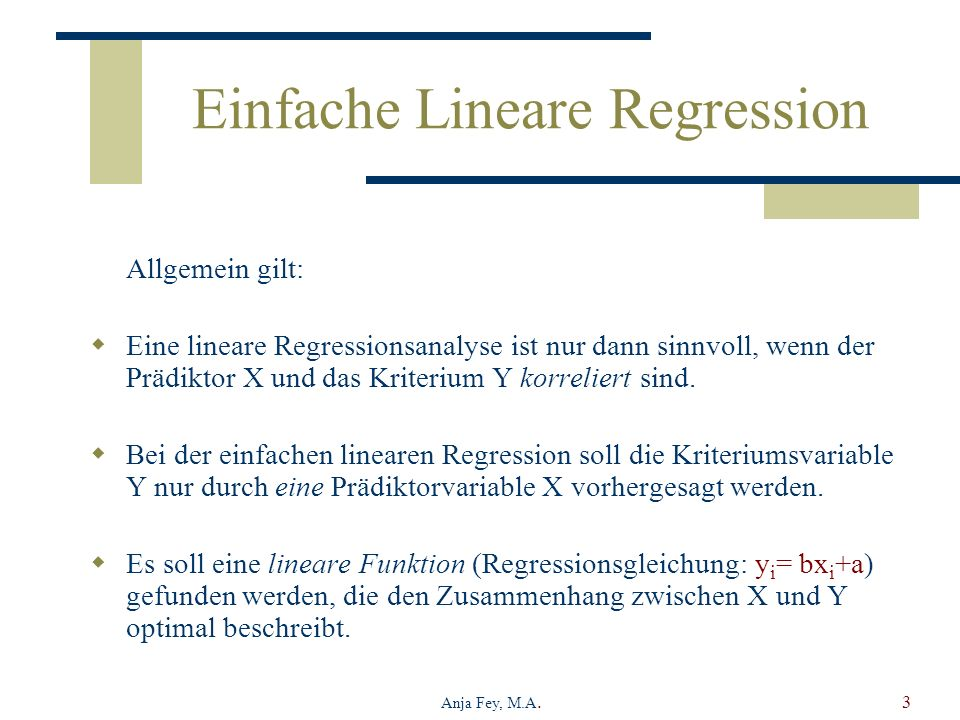 Einfache Lineare Regression