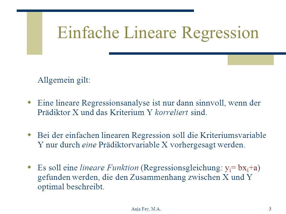 Einfache Lineare Regression