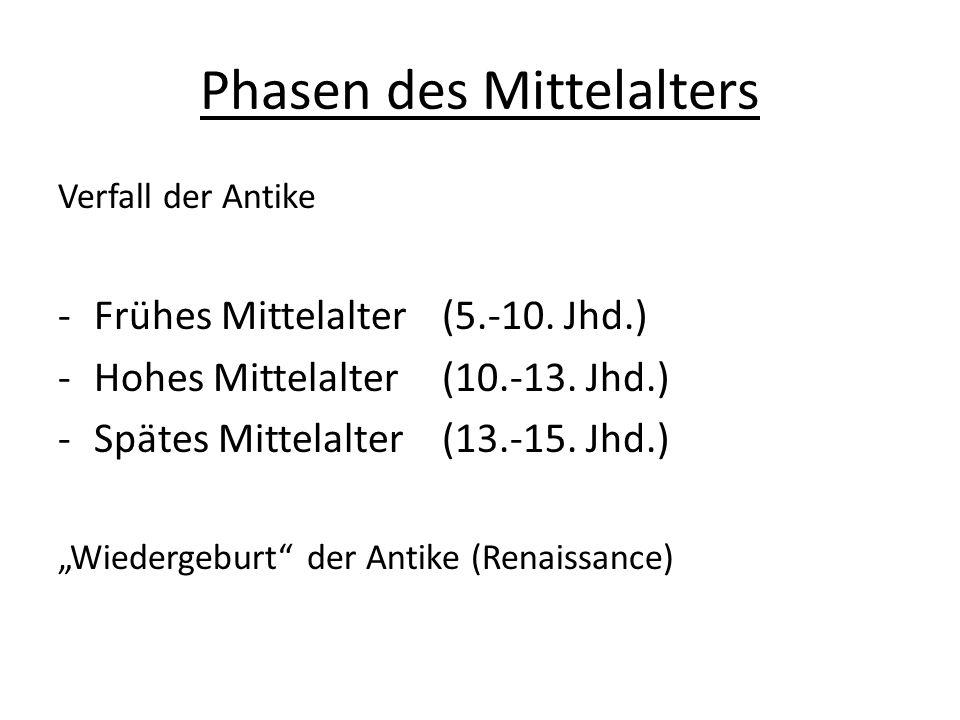 Phasen des Mittelalters