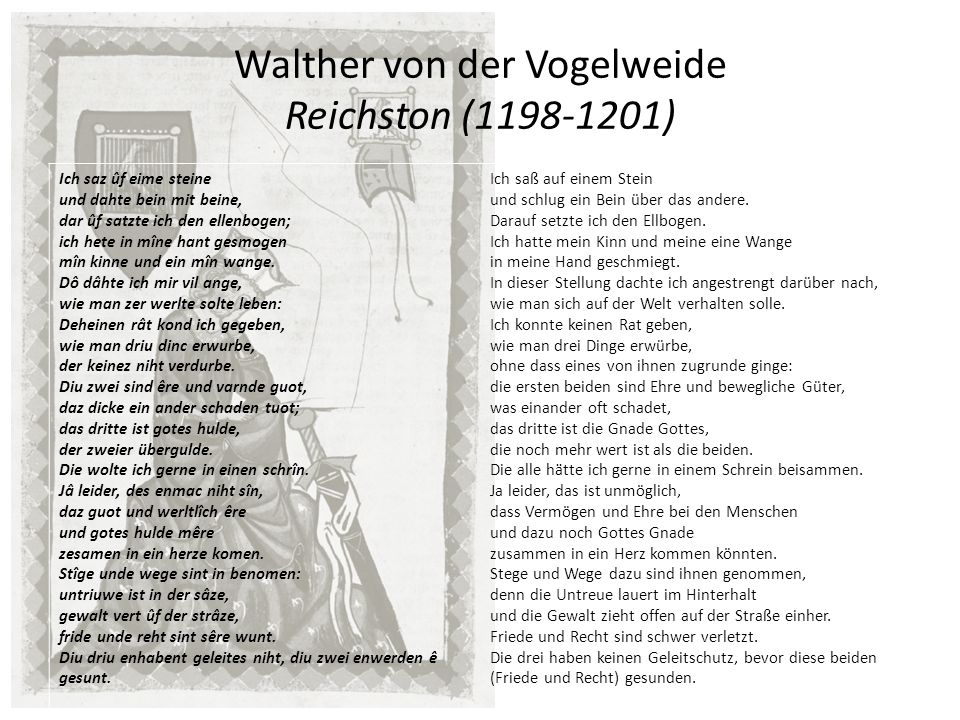 Walther von der Vogelweide Reichston (1198-1201)