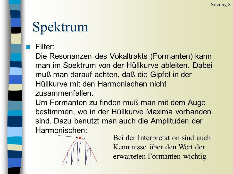 Sitzung 8 Spektrum.