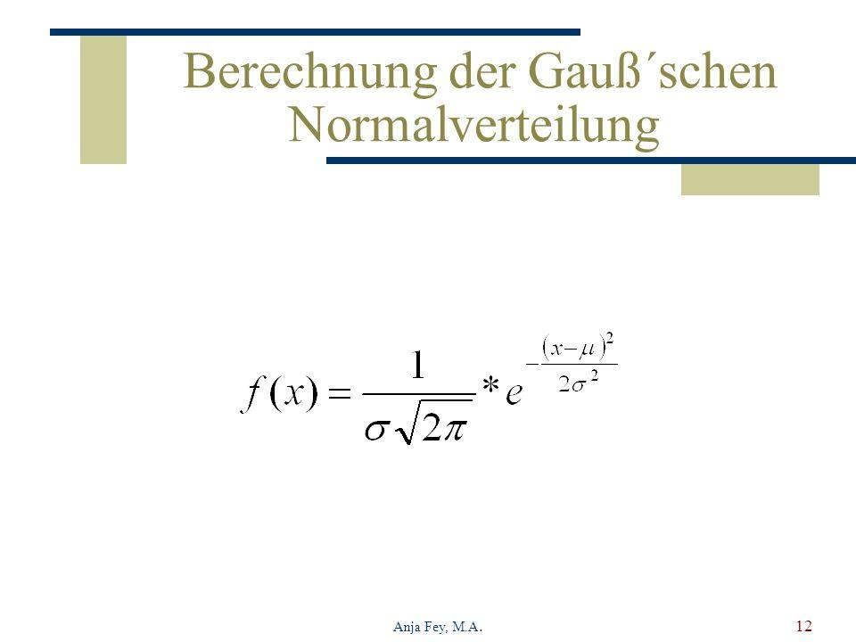 Berechnung der Gauß´schen Normalverteilung