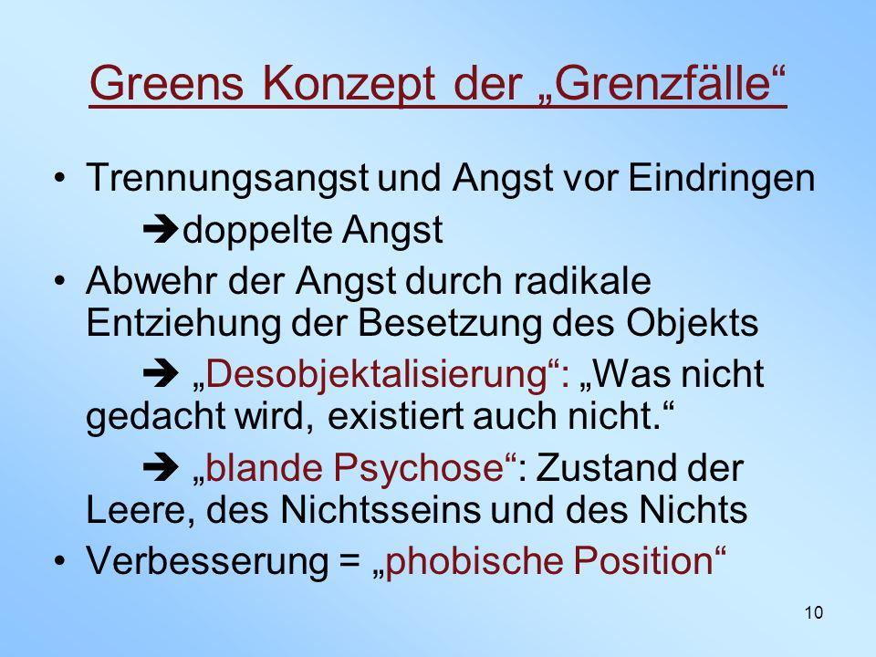 """Greens Konzept der """"Grenzfälle"""