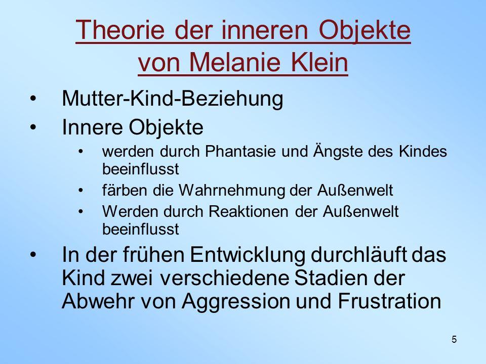 Theorie der inneren Objekte von Melanie Klein