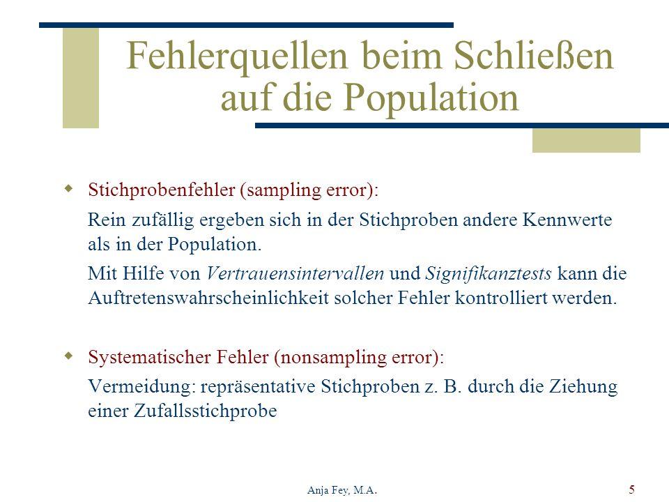 Fehlerquellen beim Schließen auf die Population