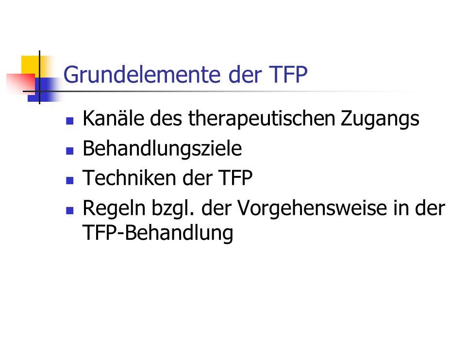 Grundelemente der TFP Kanäle des therapeutischen Zugangs