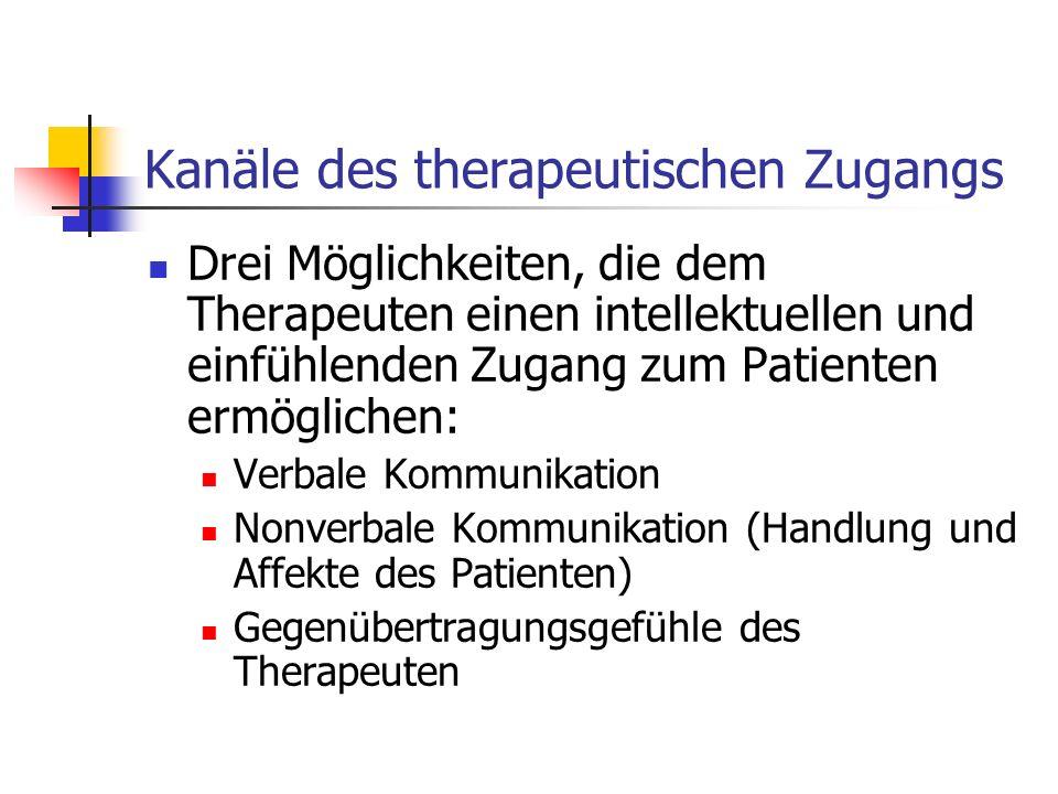 Kanäle des therapeutischen Zugangs