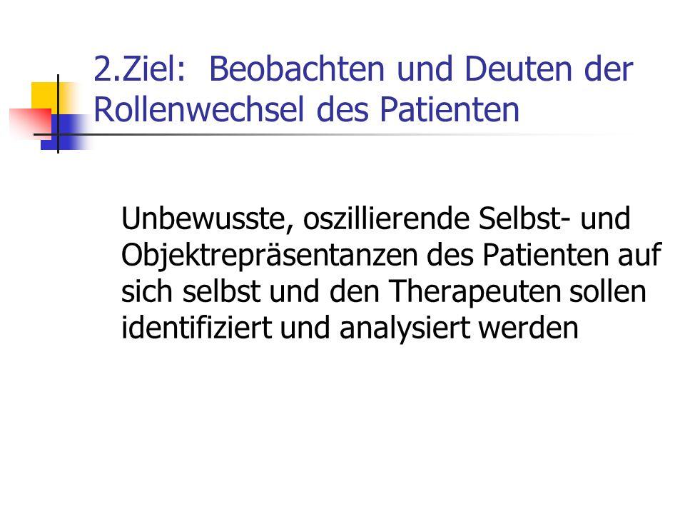 2.Ziel: Beobachten und Deuten der Rollenwechsel des Patienten