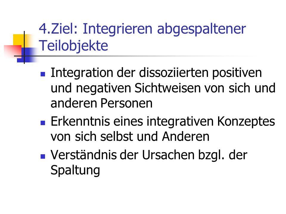 4.Ziel: Integrieren abgespaltener Teilobjekte