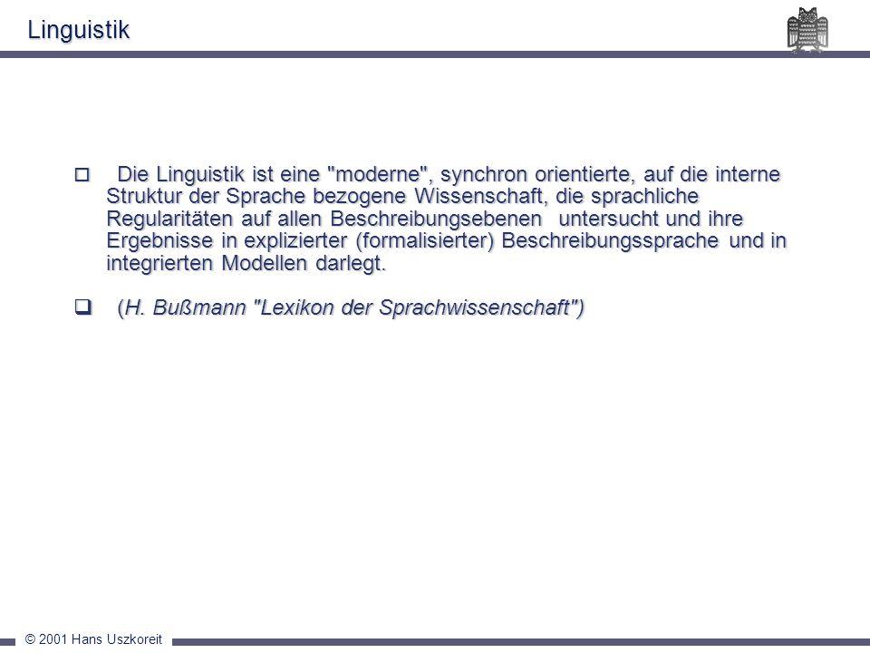 Linguistik (H. Bußmann Lexikon der Sprachwissenschaft )
