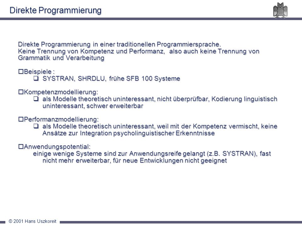 Direkte Programmierung