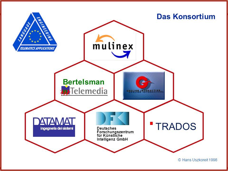 D A T A M A T TRADOS Das Konsortium Bertelsmann Mulinex Konsortium