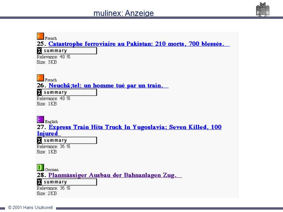 mulinex: Anzeige